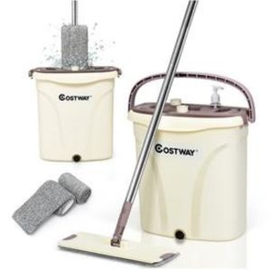FLAT SQUEEZE HAND FREE WRINGING MOP SET